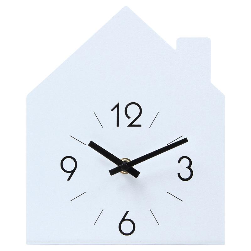送料無料 6個セット 置時計 ハウス ホワイト 置き時計 クロック 時計 シンプル モダン おしゃれ
