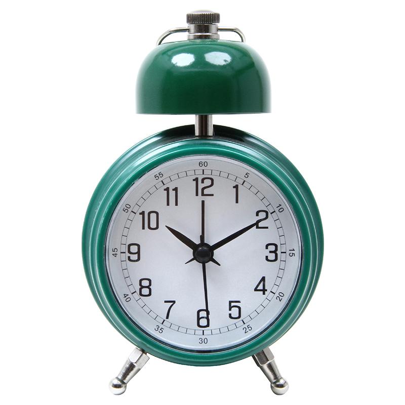 送料無料 6個セット 置時計 ベルクロック アラーム機能付き グリーン 置き時計 クロック 時計 シンプル モダン おしゃれ