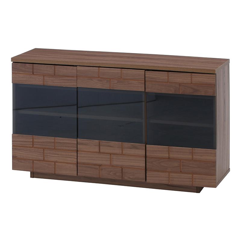 送料無料 キャビネット 木製 食器棚 幅120cm リビング収納 飾り棚 カップボード キッチン収納 収納棚 棚 キッチン ラック 電話台 FAX台 おしゃれ 北欧 レトロ モダン かわいい カントリー アンティーク ミディアムブラウン
