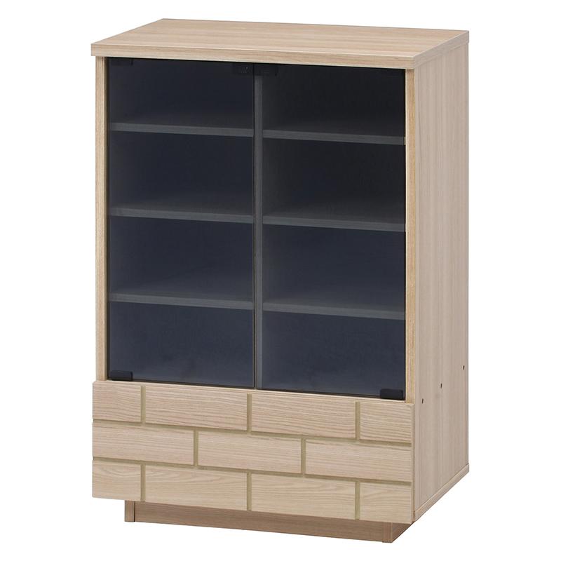 送料無料 ガラスキャビネット 木製 食器棚 幅60cm リビング収納 飾り棚 カップボード キッチン収納 収納棚 棚 キッチン ラック 電話台 FAX台 おしゃれ 北欧 レトロ モダン かわいい カントリー アンティーク ナチュラル