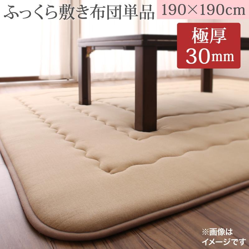 ふっくらボリューム日本製 Amabel アマベル こたつ敷きふとん 190×190cm (送料無料) 500041930