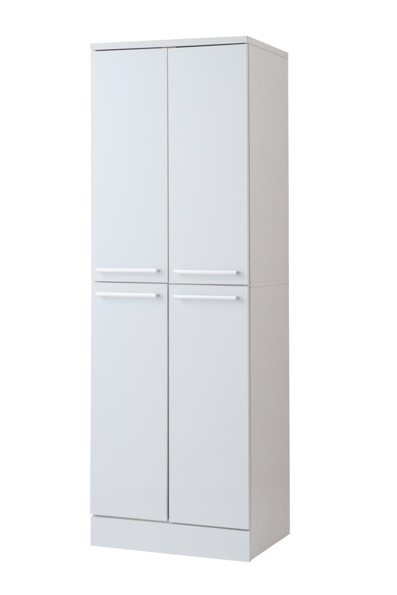 送料無料 大容量 収納 ストッカー スリム キッチンストッカー 幅60cm ホワイト 収納庫 キッチン収納 収納ラック 収納棚 収納ボックス 食糧庫 食器棚 リビング キッチン キャビネット おしゃれ 小物収納 かわいい 北欧