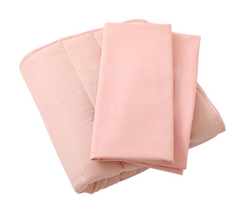敷きパッド+ボックスシーツ2枚のみ セミダブルサイズ (送料無料) 500042107