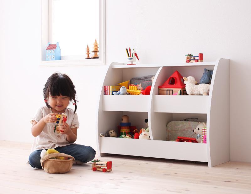 おもちゃ箱 完成品 幅76cm おもちゃ収納 おかたずけ キッズ クレア 片付け おもちゃBOX こども 入園 おしゃれ 入学 部屋 kids 家具 組み立て済み 子供用家具 子供部屋 おかたづけラック (送料無料) 040500073