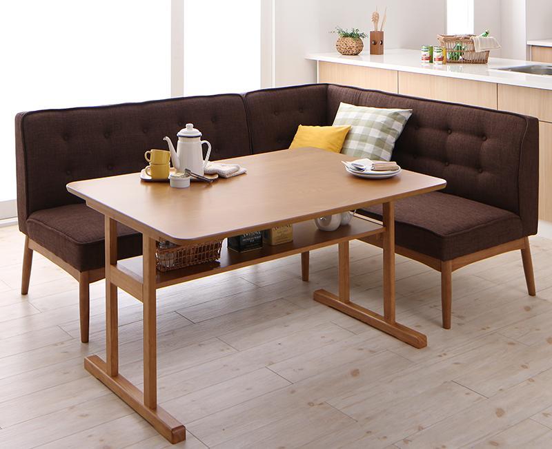 北欧デザインリビングダイニングセット LAVIN ラバン 3点セット(テーブル+ソファ1脚+アームソファ1脚) 右アーム W120 (送料無料) 040600673