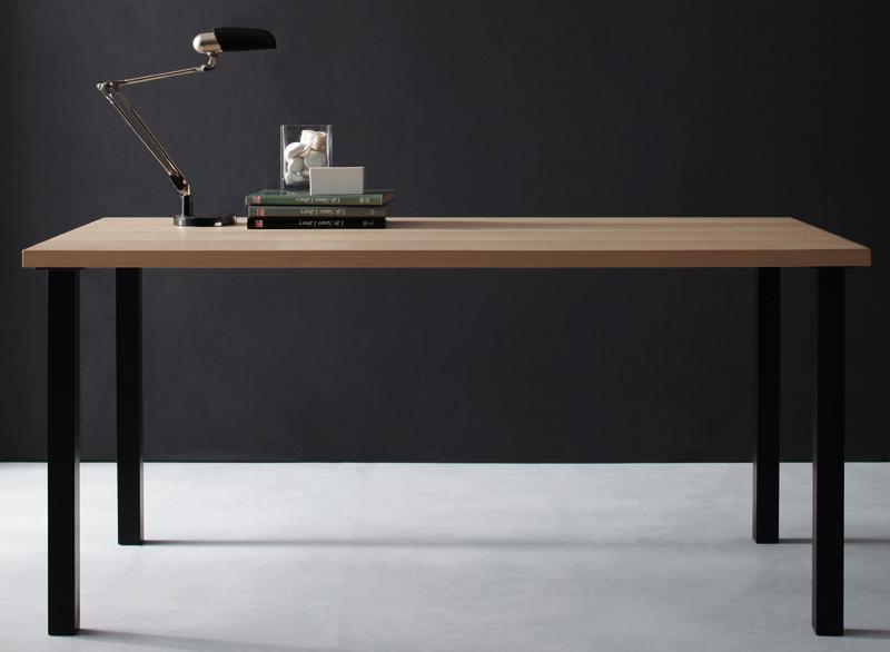 ダイニングテーブル 幅150×奥行80cm 長方形 テーブル ジョゼ ダイニング 4人掛け 4人用 天然木アッシュ材 スチール脚 食卓テーブル つくえ 作業台 木製 高級感 おしゃれ 北欧 (送料無料) 040601229