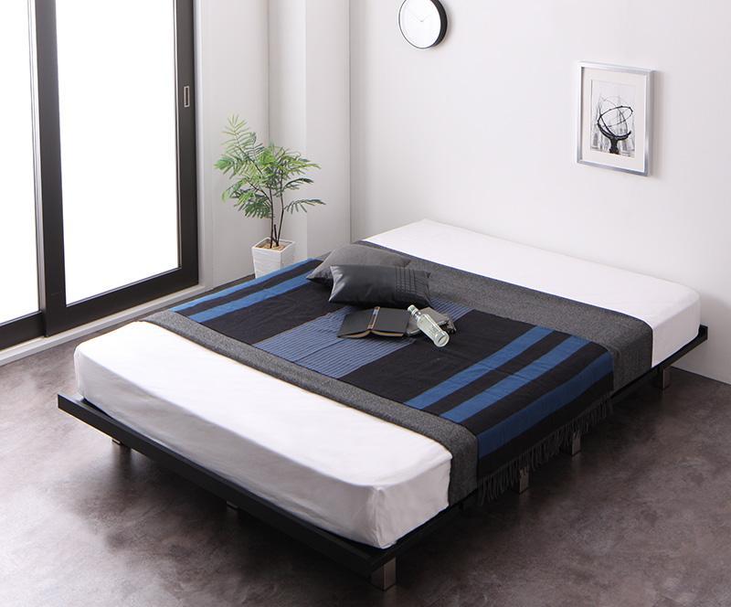 すのこ ベッド ベッドフレーム マットレス付き フルレイアウト ダブル ダブルベッド べット 耐荷重600kg 頑丈 すのこベット ティーボード プレミアムポケットコイルマットレス付き 木製 ローベッド ローベット ダブルサイズ すのこベッド ヘッドレス (送料無料) 500021897