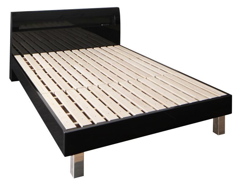 すのこベッド 桐 ダブルベッド ベッドフレームのみ ダブル ダブルサイズ 木製ベッド 宮付き 棚付き コンセント付き 頑丈 すのこステーションベッド ジーベッド ベッド ベット 耐荷重500kg スチール脚 すのこべット スノコ レッグタイプ シンプル (送料無料) 500024380