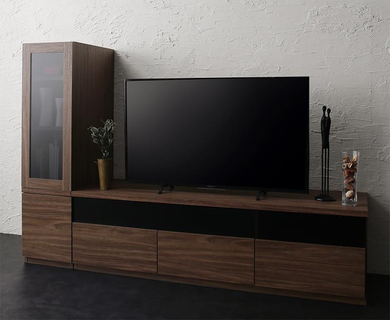 キャビネットが選べるテレビボードシリーズ add9 アドナイン 2点セット(テレビボード+キャビネット) ガラス扉 W140 (送料無料) 500027025