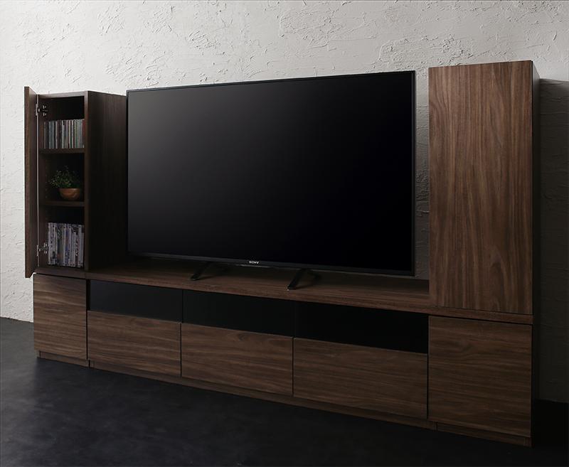 キャビネットが選べるテレビボードシリーズ add9 アドナイン 3点セット(テレビボード+キャビネット×2) 木扉 W140 (送料無料) 500027027