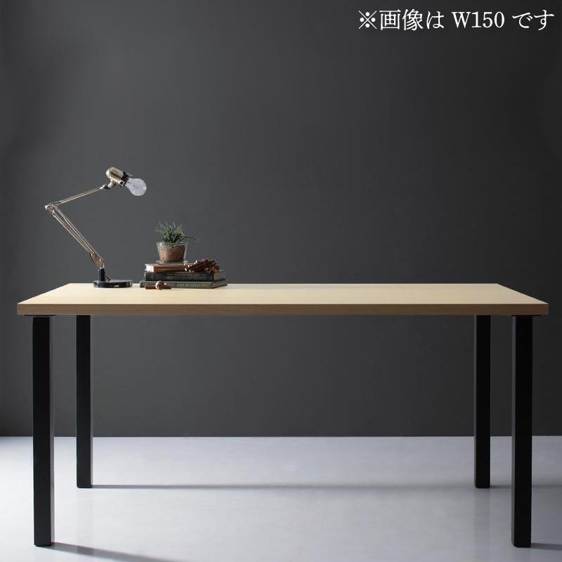 天然木天板 スチール脚 モダンデザインテーブル Gently ジェントリー ナチュラル ストレート脚 W120 (送料無料) 500027467