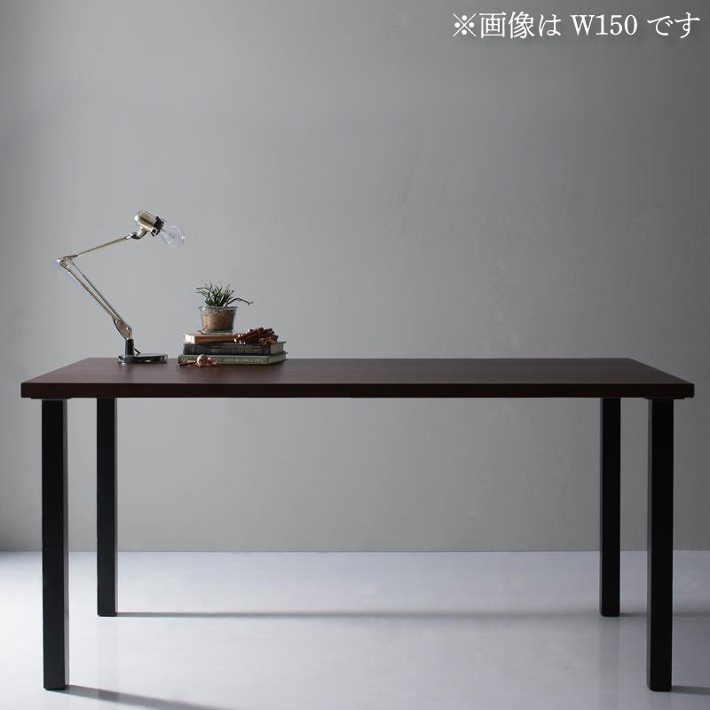 天然木天板 スチール脚 モダンデザインテーブル Gently ジェントリー ブラウン ストレート脚 W120 (送料無料) 500027471