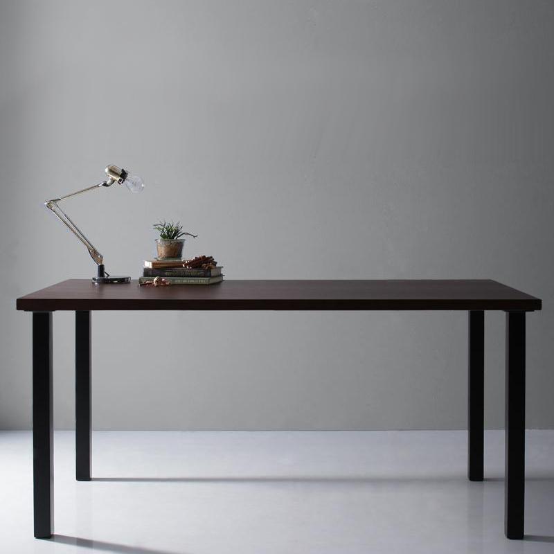 天然木天板 [並行輸入品] スチール脚 モダンデザインテーブル Gently ジェントリー W150 クリアランスsale 期間限定 ストレート脚 500027472 送料無料 ブラウン