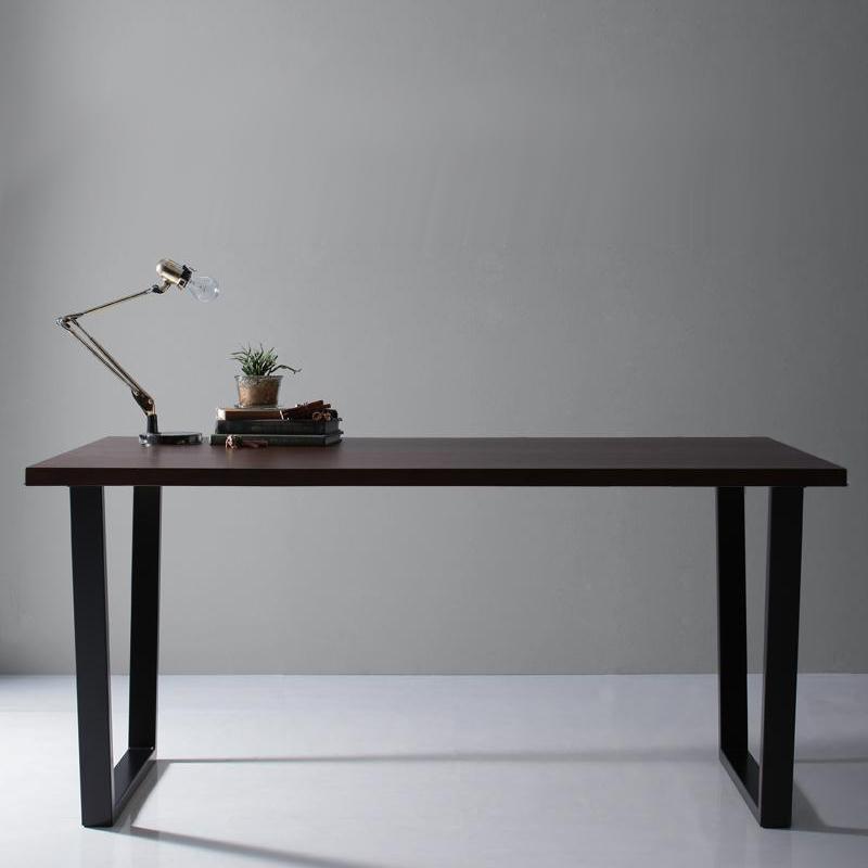 天然木天板 スチール脚 SALE開催中 上品 モダンデザインテーブル Gently ジェントリー V字脚 W150 500027474 送料無料 ブラウン