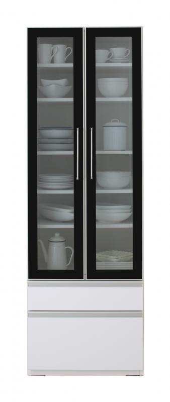 完成品 大型レンジ対応 女性目線でデザインされたおしゃれキッチン収納 Aina アイナ 食器棚 幅60 (送料無料) 500028062