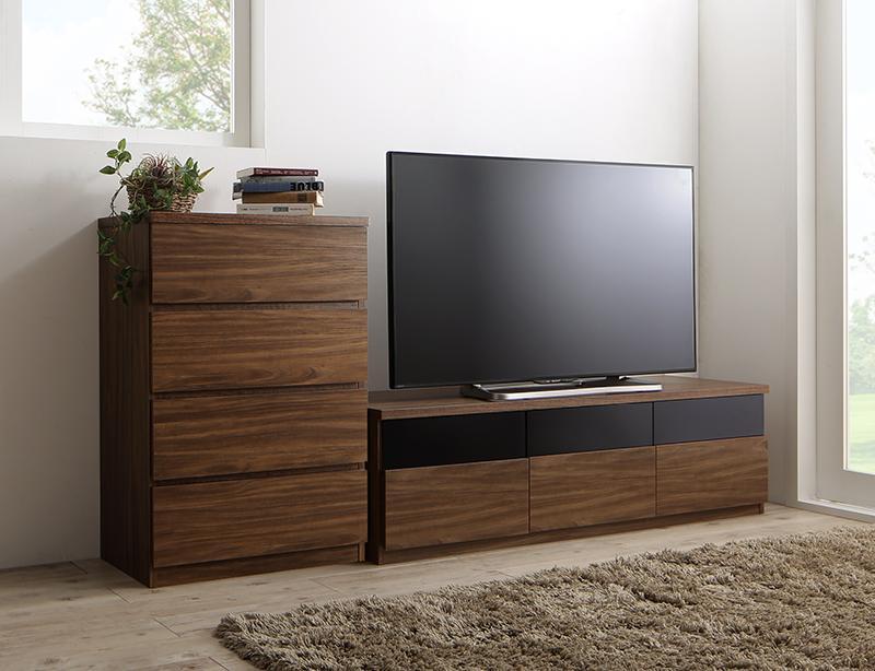 リビングボードが選べるテレビ台シリーズ TV-line テレビライン 2点セット(テレビボード+チェスト) 幅140 (送料無料) 500028073