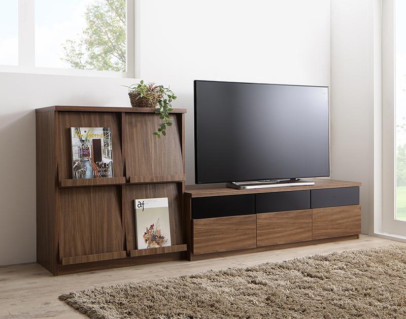 リビングボードが選べるテレビ台シリーズ TV-line テレビライン 2点セット(テレビボード+フラップチェスト) 幅140 (送料無料) 500028075