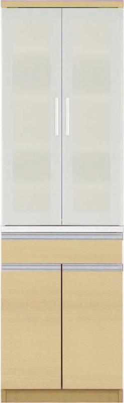 開梱設置付 ダイニングボード 幅60cm 高さ193 Ethica エチカ 食器棚 キッチン収納 日本製 国産 木製 開き戸 ラック 棚 ホワイト ブラウン ナチュラル (送料無料) 500028359