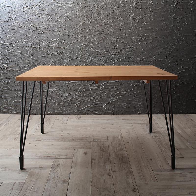 ダイニングテーブルのみ 幅120cm 奥行き70cm ヴィンテージ インダストリアルデザイン ダイニング リビング Almont オルモント 食卓 木製 角型 ナチュラル (送料無料) 500028544