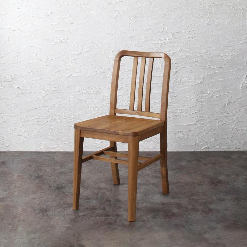 ダイニングチェアのみ 1脚 天然木 オーク材 ヴィンテージデザイン ダイニング Dryden ドライデン ダイニングチェアー 完成品 椅子 イス いす チェア チェアー ブラウン (送料無料) 500028547