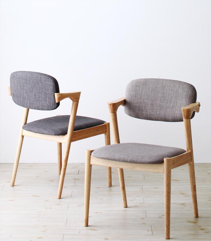 ダイニングチェア 2脚組 北欧ナチュラルモダンデザイン天然木ダイニング Wors ヴォルス 木製 天然木 ダイニング 椅子 いす イス チェアー チャコールグレー ライトグレー 北欧 (送料無料) 500028827