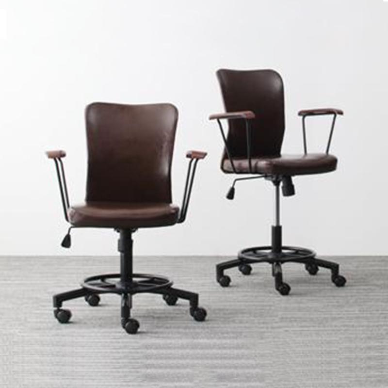 チェア のみ 1脚 GROWTHER グローサー オフィスチェア パソコンチェア 椅子 イス いす チェアー 合成皮革 ブラウン (送料無料) 500030007