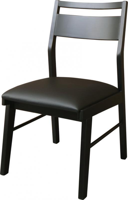 ダイニングチェアのみ 2脚セット ヴィンテージデザインダイニング NELL ネル ダイニングチェアー 2脚組 木製 合成皮革 食卓椅子 イス 椅子 いす ブラック (送料無料) 500030149
