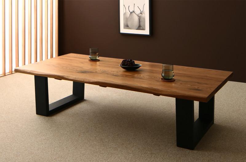 天然木無垢材ワイドサイズ座卓テーブル Amisk アミスク オーク W150 (送料無料) 500033460