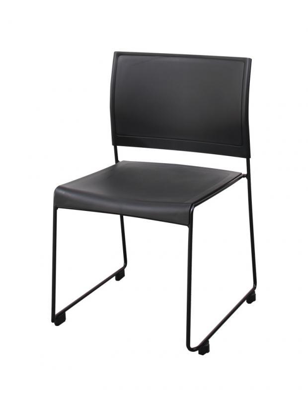 スタッキングチェアー Sylvio シルビオ 1脚 オフィスチェア スタッキングチェア パソコンチェア 椅子 イス いす スチール ブラック レッド ホワイト グリーン (送料無料) 500033529