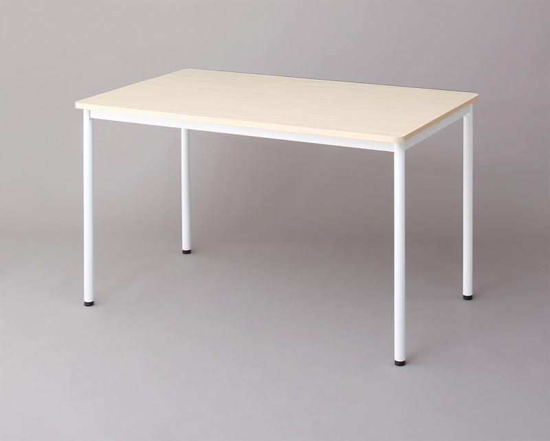 オフィスワークテーブルのみ 幅120 奥行き70 高さ70cm 多目的オフィスワークテーブル CURAT キュレート オフィステーブル 木製 スチール脚 平机 ダークブラウン ホワイト ナチュラル (送料無料) 500033547
