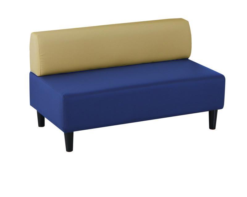 ソファのみ 背あり 2P 2人掛け 幅120 カバーリング待合ロビーソファ Caran Coron カランコロン 合成皮革 ロビーチェア 待合椅子 ソファー 椅子 イス いす ブラック アイボリー ブラウン ベージュ ブルー (送料無料) 500033572