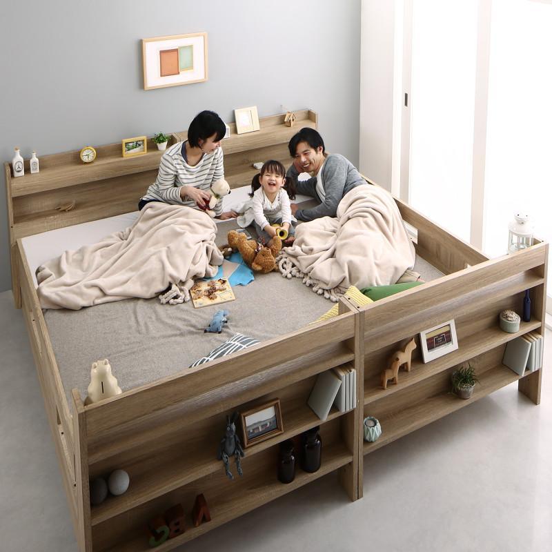 2段ベッドにもなるワイドキングサイズベッド Whentass ウェンタス 薄型抗菌国産ポケットコイルマットレス付き スタンダード ワイドK200 (送料無料) 500033588