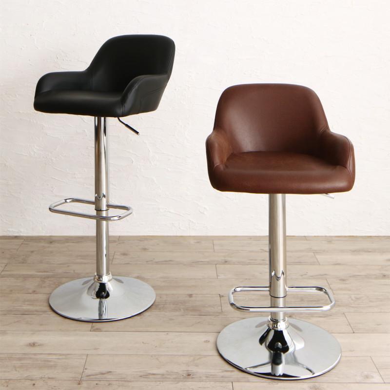 カウンターチェアのみ 1脚 Leszno レシュノ バーチェアー バーチェア カウンターチェアー スチール 椅子 イス いす ブラック ブラウン (送料無料) 500033688