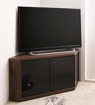 角度調節可能 隠しキャスター付き ハーフコーナーテレビボード  Cornerα コーナーアルファ 幅86.8 (送料無料) 500040775