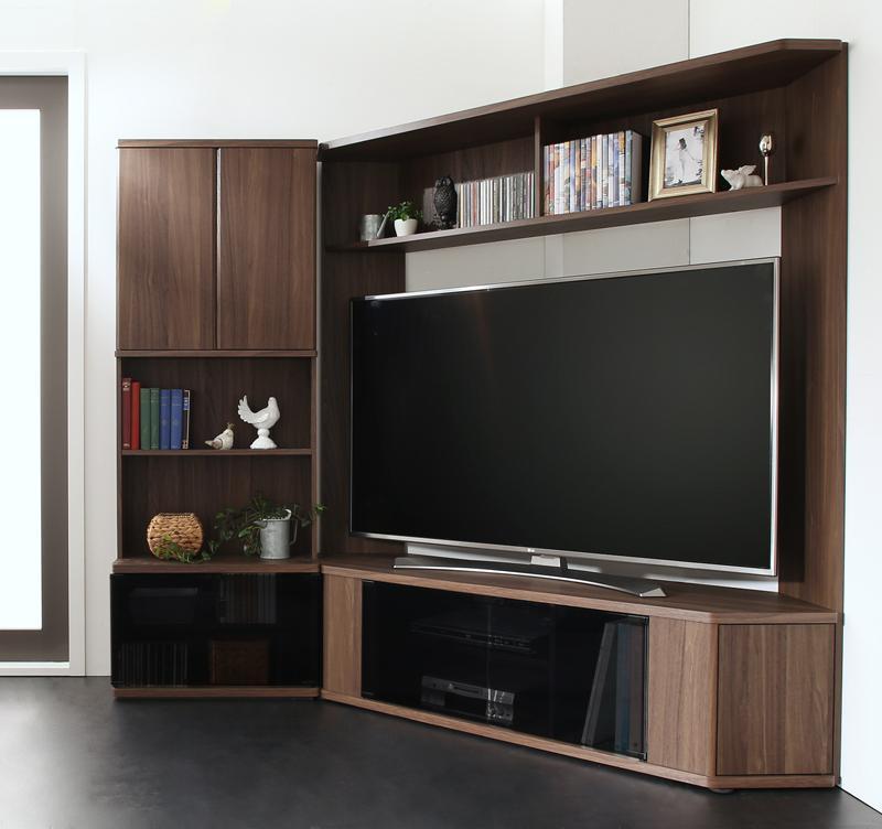 ハイタイプコーナーテレビボード コーナープラス Corner+ 2点セット(テレビボード+キャビネット) 209 161 40.3 (送料無料) 500041487