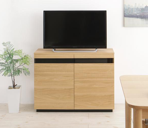 カウンター下収納にもなる薄型ハイタイプテレビボード ROVER ローバー 幅90 (送料無料) 500042872