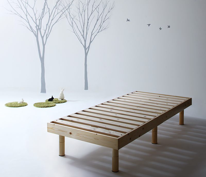 コンパクト天然木すのこベッド minicline ミニクライン ベッドフレームのみ セミシングル ショート丈 (送料無料) 500043091