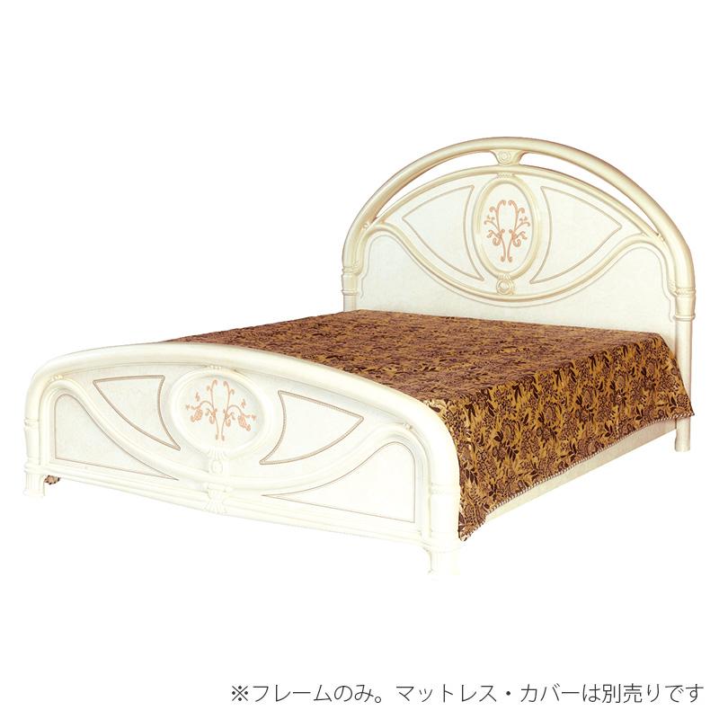 送料無料 開梱設置サービス付き ベッド ワイドダブル ワイドダブルベッド 高級感 ホテル 木製 ベット フローレンス アイボリー 茶 エレガント おしゃれ SFLI-532-IV