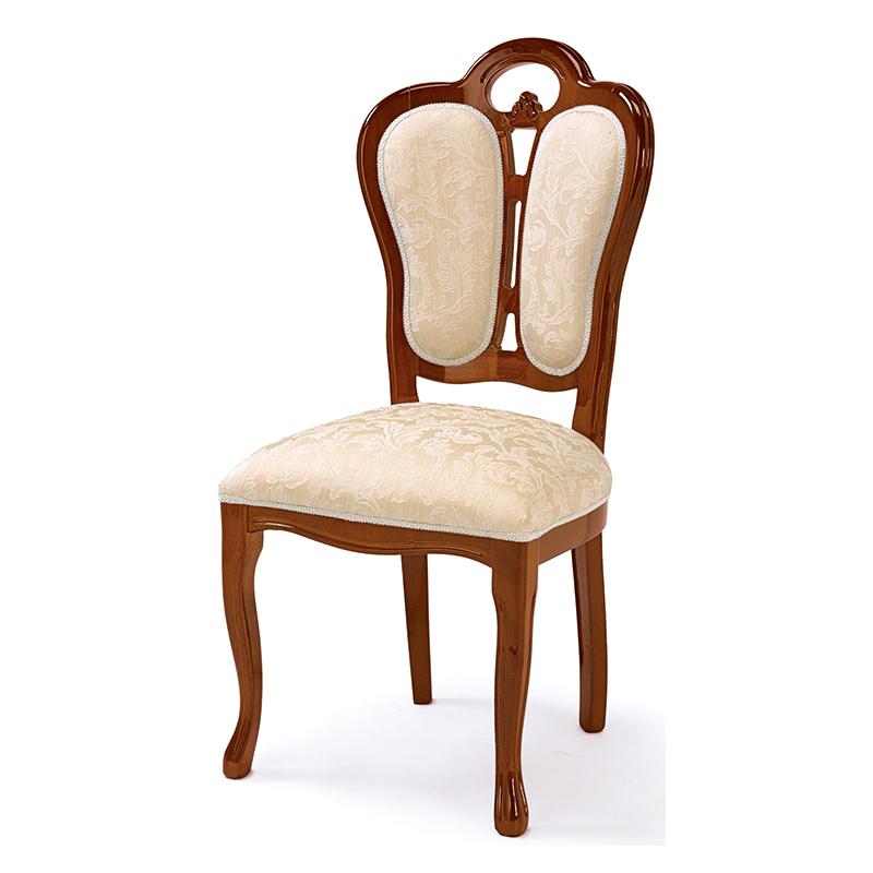 送料無料 ダイニングチェア アンティーク おしゃれ 木製 1人 フローレンス ダイニングチェアー イス 椅子 エレガント 高級感 ブラウン 茶 SFLI-521-BR