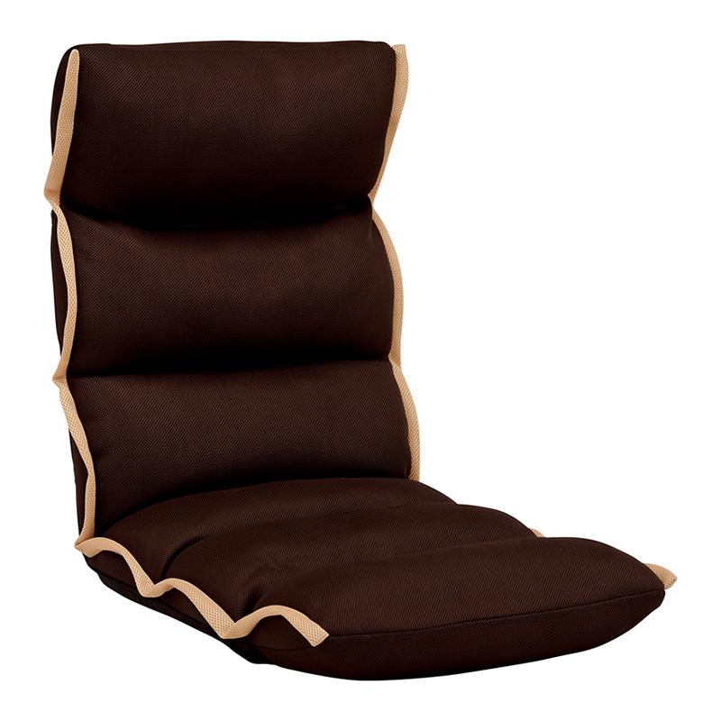 送料無料 4台セット 座椅子 ハイバック座椅子 リクライニング チェアー イス 椅子 ブラウン おしゃれ LZ-4289BR
