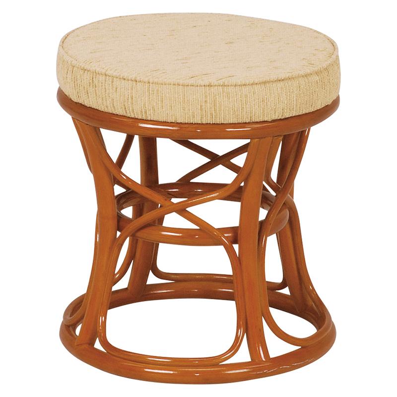 送料無料 6個セット スツール 丸形 円形 籐椅子 椅子 木製 おしゃれ いす イス ラタン ナチュラル RH-771NA