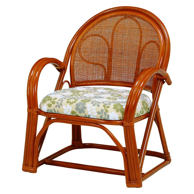 送料無料 2脚組 座椅子 2脚セット 楽々座椅子 籐 タラン 肘付き 籐チェアー 1人 おしゃれ 木製 椅子 チェア イス チェアー RZ-392
