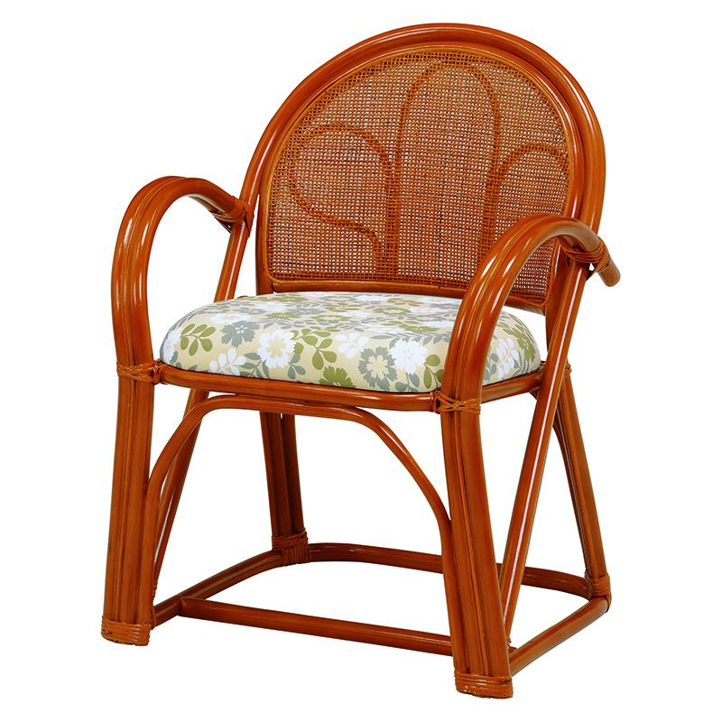 送料無料 2脚組 座椅子 2脚セット 楽々座椅子 籐 タラン 肘付き 籐チェアー 1人 おしゃれ 木製 椅子 チェア イス チェアー RZ-393