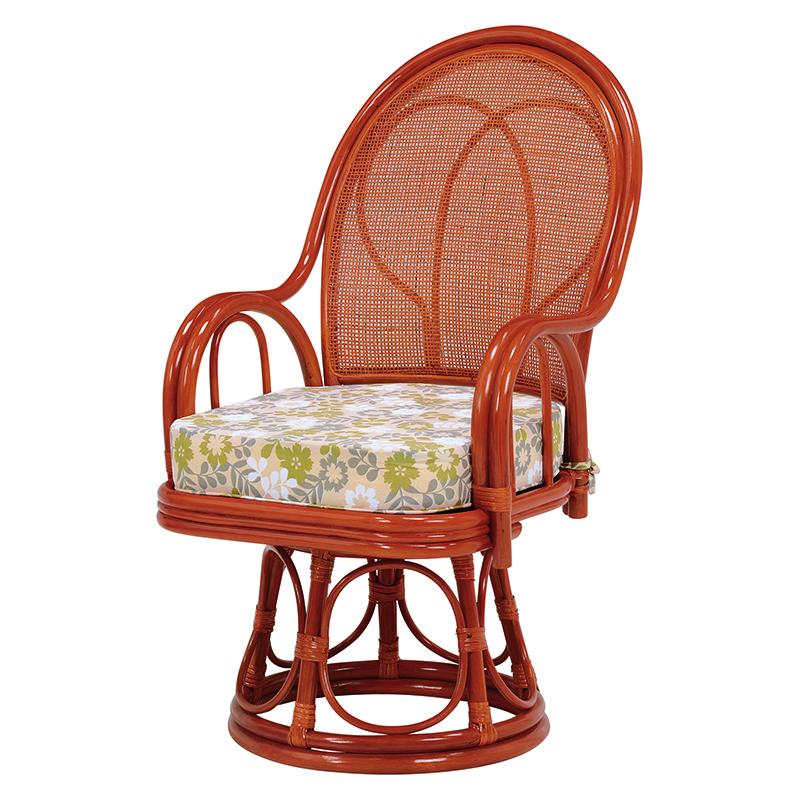送料無料 2脚組 回転座椅子 回転 籐 タラン ハイタイプ ハイバック 籐チェアー 1人 おしゃれ 木製 椅子 チェア イス チェアー RZ-038H