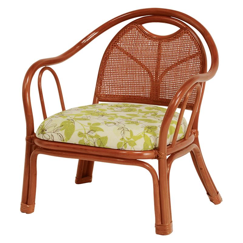 送料無料 3脚組 座椅子 籐楽々座椅子 籐チェアー 1人 おしゃれ 木製 椅子 チェア イス チェアー 肘付き RZ-252
