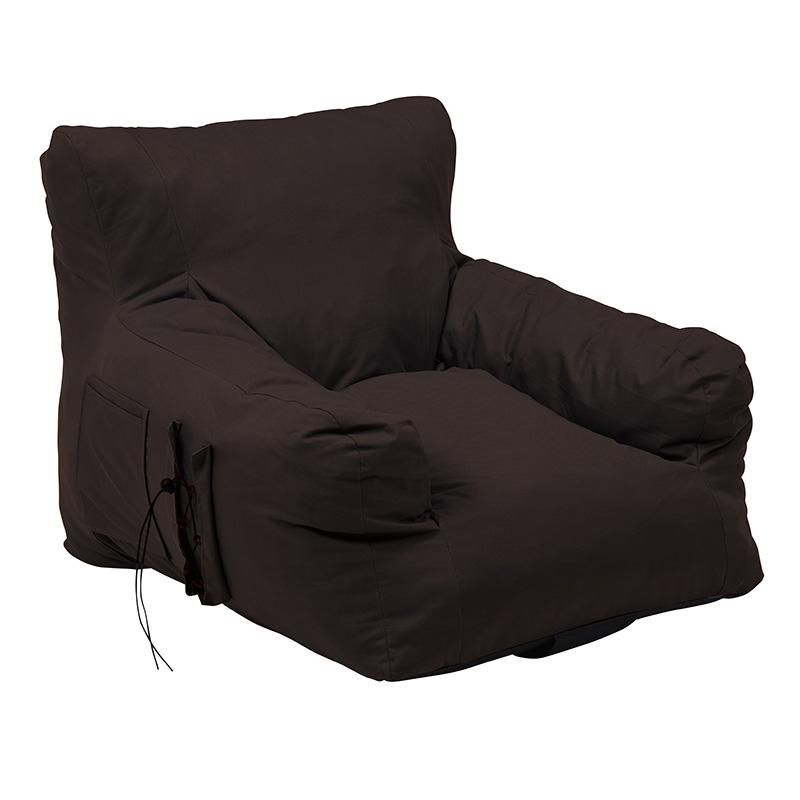 送料無料 クッション 大きい 圧縮ソファ クッションソファ ジャンボ 特大 背もたれ フロアソファー 1人掛け ふんわり おしゃれ かわいい シンプル 一人暮らし リビング 寝室 ブラウン グロー1P-BR