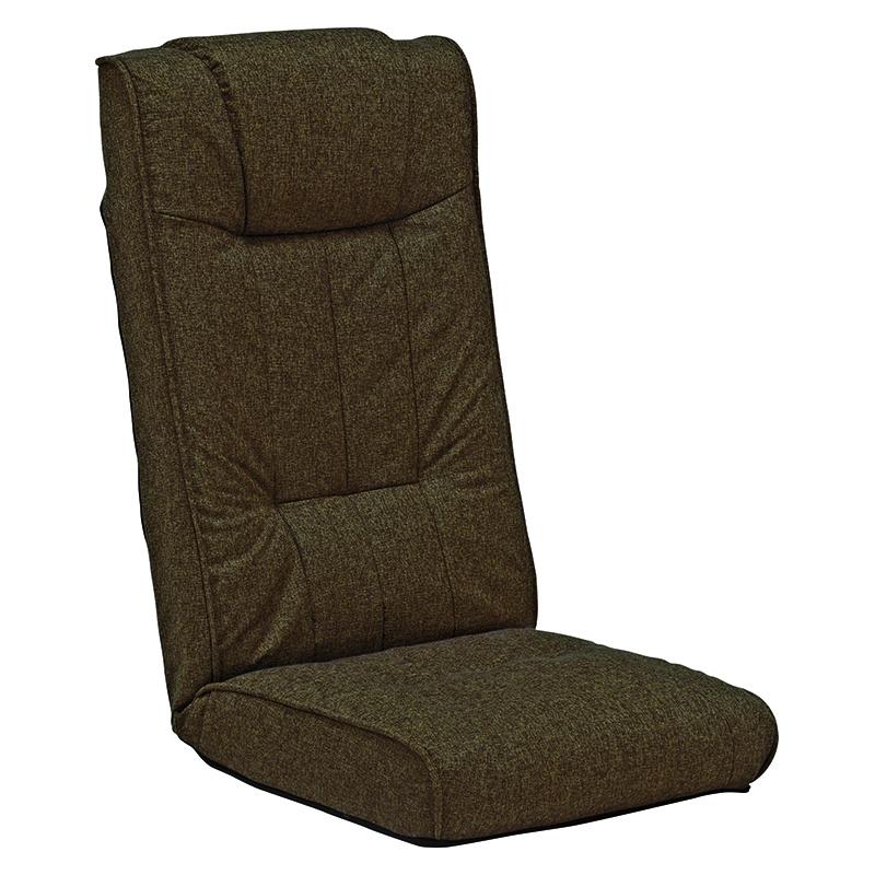送料無料 リクライニング座椅子【4個セット】 ハイバック おしゃれ 和室 フロアチェア ブラウン チェア 落着いた雰囲気 4点セット【LZ-4266BR】