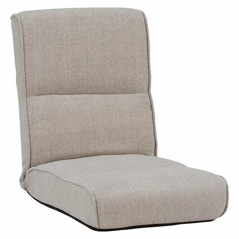 送料無料 リクライニング座椅子【5個セット】 ポケットコイル ベージュ シンプル フロアチェア チェア【LZ-4691BE】