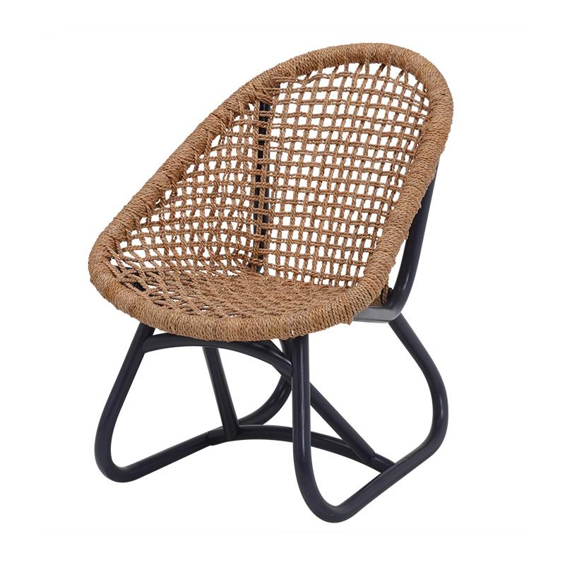 送料無料 キャバン アバカ編みローチェアー コンパクト アウトドア風 持ち運び 椅子 ディープパープル ローチェア【RC-1161BL】