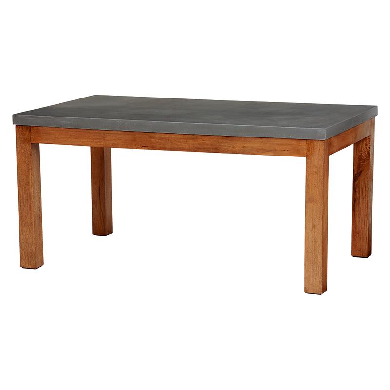 送料無料 コンクリ-ト天板ダイニングテーブル バリ 長方形 リゾート 南国 センターテーブル 木製【RT-1488-150】